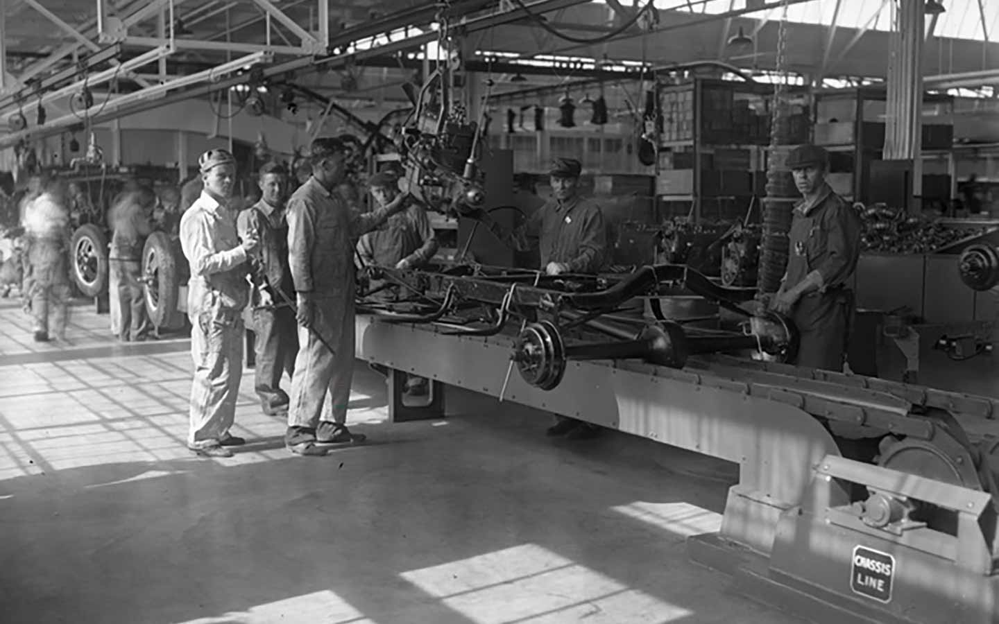 Ford assembly line process