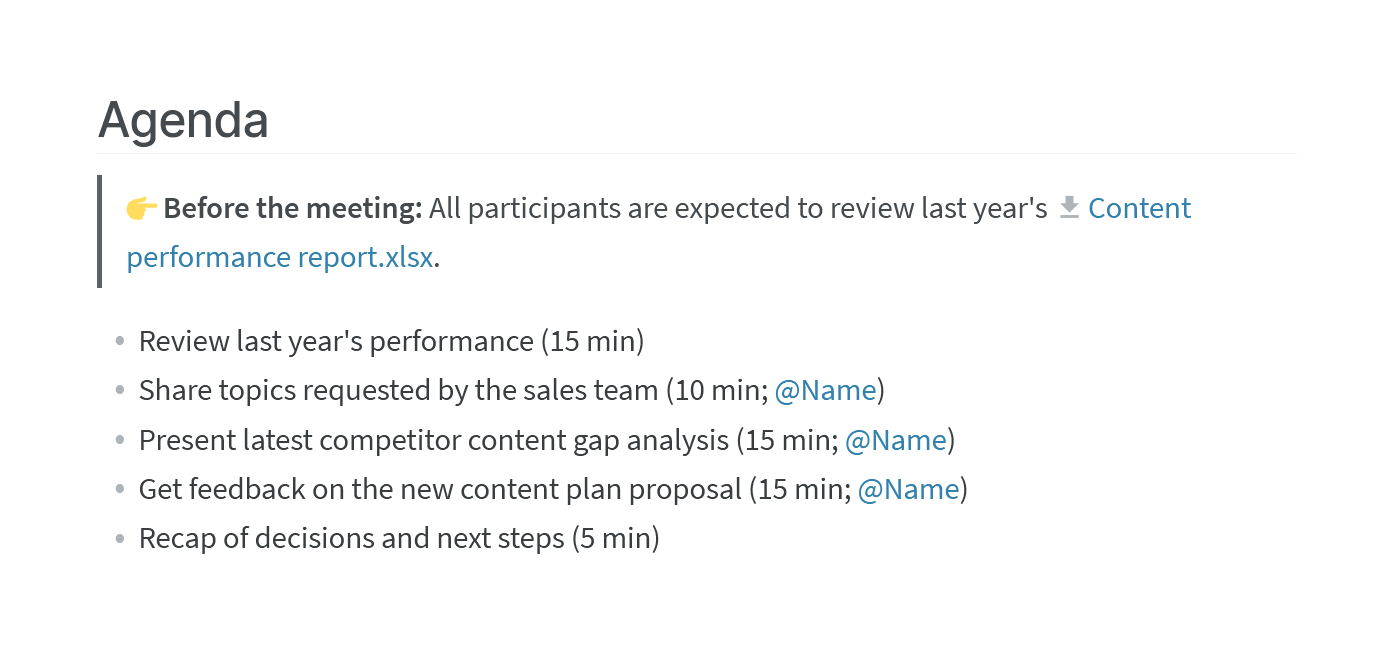 How to Take Meeting Minutes Templates & Examples