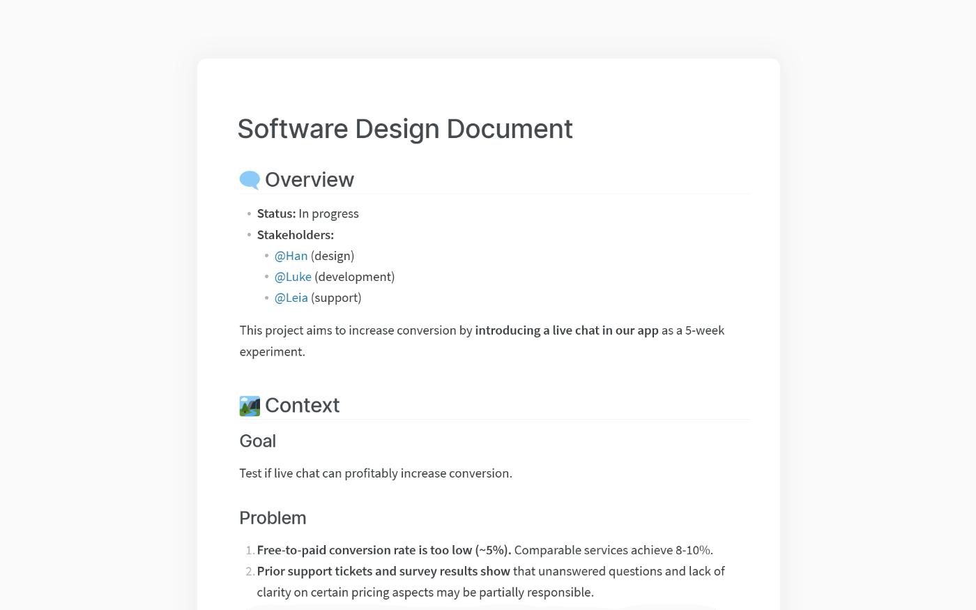 SDD template